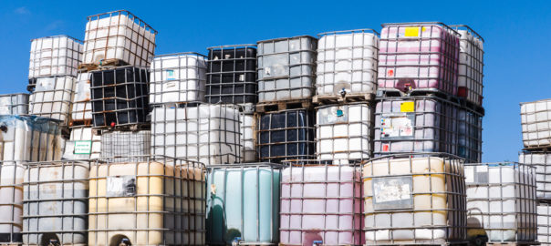 chemical tote landfill glutaraldehyde bromine