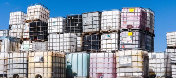 chemical tote landfill glutaraldehyde bromine