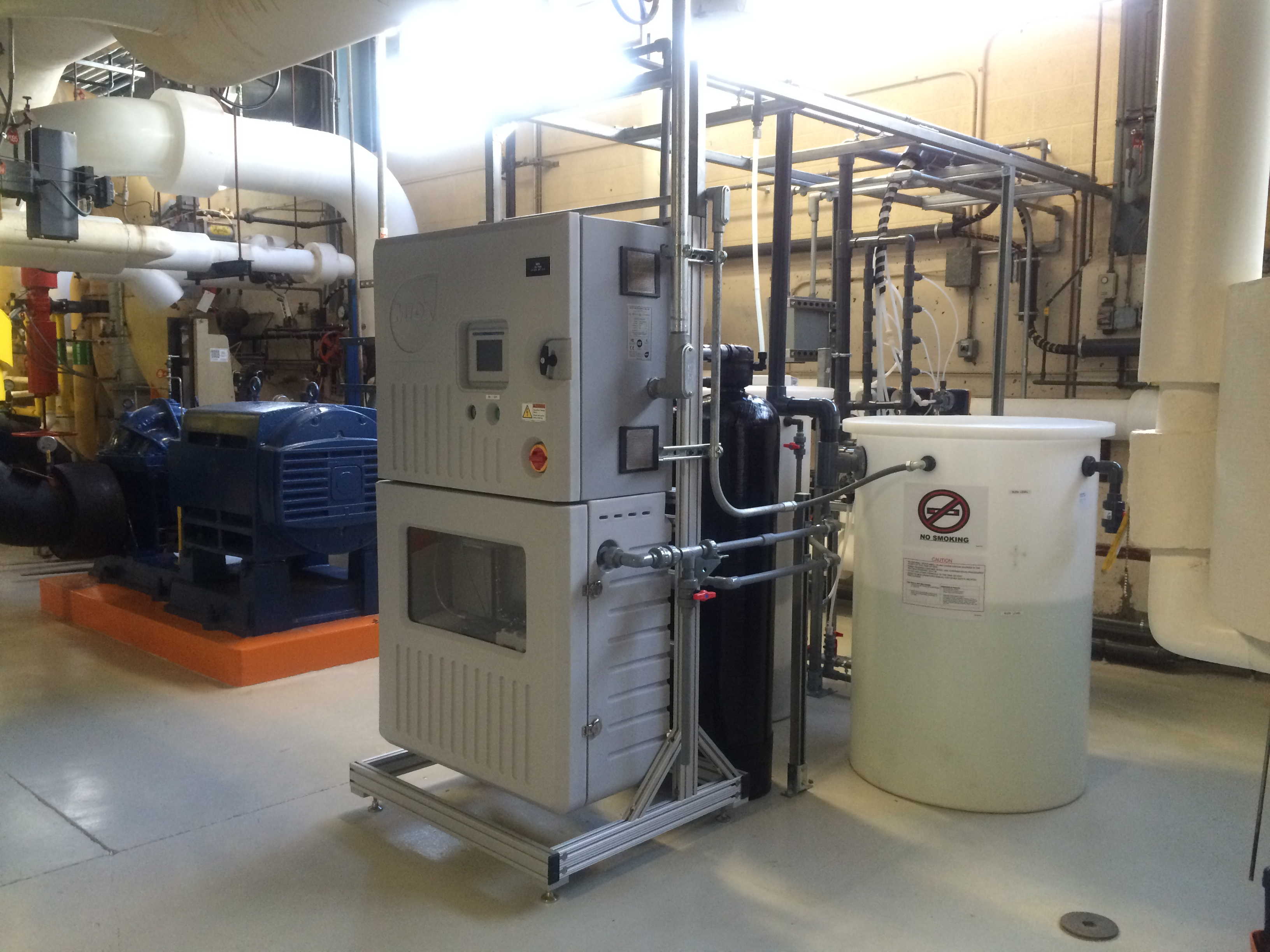 MIOX cooling tower water treatment using electrochemical generation